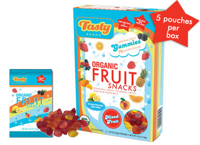 Tasty fruit snacks